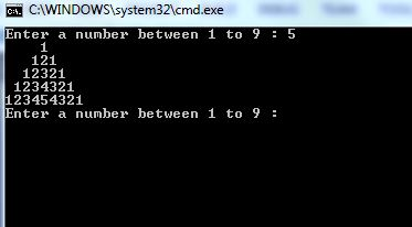 Different Number Pattern Programs In C Csharp Star
